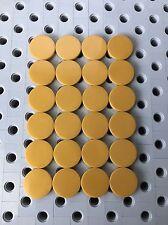 Lego Round 2x2 Gold Flat Tiles Smooth Finishing Floor Stones 24 Pcs