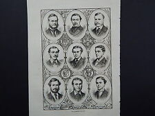 Illustrated London News Full Page B&W A1#59 April 1871 Cambridge Crew: Boat Race