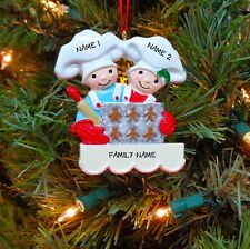 Baking Cookies Couple - Family of 2 Personalized Christmas Ornaments