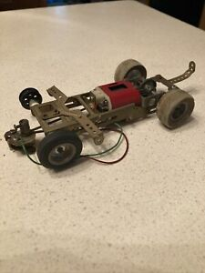 Cool Vintage 1/24 Scale Slot Car Brass Dynamic Chassis Running Motor Project +++