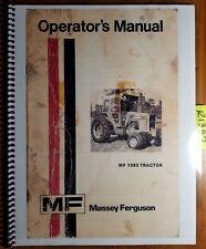 Massey Ferguson MF 1085 MF1085 Tractor Owner Operator's Manual 1448 243 M5 3/76