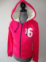 Neu DIVIDED by H&M Sweatjacke Kapuzenshirt Shirt Fellfutter Gr.34 pink-weiß Hose