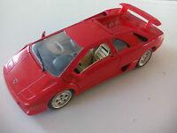 BURAGO 1/18  LAMBORGHINI DIABLO. 1990  DIECAST MODEL CAR. Coche ROJO