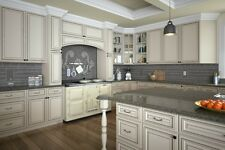 ALL WOOD 10x10 Kitchen Cabinets  Signature Vanilla Glaze  RTA  FREE SHIPPING