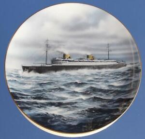 "NORTH GERMAN LLOYD LINE SS BREMEN NDL 9"" COALPORT LT ED FINE BONE CHINA PLATE"