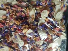 Real Flower Petal Confetti- Roses and Delphiniums