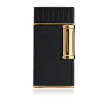 Colibri Julius Classic Cigar Luxury Lighter Double Soft Flame in Black & Gold