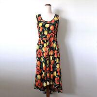 WALLIS Petits Orange Lemon Citrus Floral Sleeveless Fit & Flare Dress Size 8