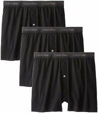 Calvin Klein Men's Cotton Classics Multipack Knit Boxers, Black, Medium
