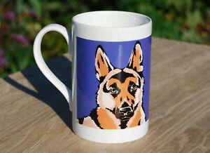 German Shepherd porcelain single mug