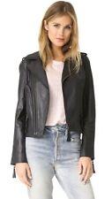 JOIE $898 Black Ailey Leather Jacket Size Medium