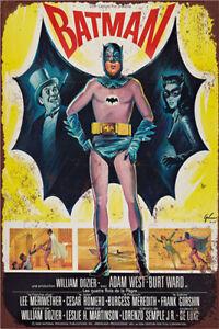 Metal Tin Sign batman film Bar Pub Home Vintage Retro Poster Cafe