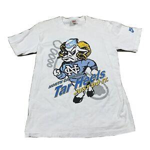 90s VTG NIKE University Of NORTH CAROLINA TAR HEELS T Shirt Big Logo M Gray Tag