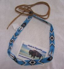HAND MADE BEADED HAT BAND RENDEZVOUS BLACK POWDER MOUNTAIN MAN 8