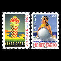 """Monaco 2004 -  EUROPA Stamps """"Holidays"""" Art Posters - Sc 2331/2 MNH"""