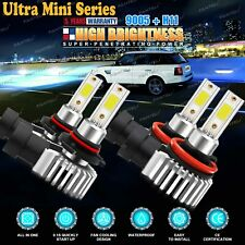 2 Pair 9005 + H11 Combo Total 6020W 903000LM LED Headlight Kit Light Bulbs 6000K