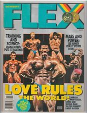FLEX bodybuilding muscle magazine/RON LOVE Night Of The Champions 11-87