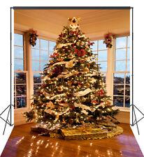 6X9FT Xmas Tree Theme Vinyl Photography Backdrop Background Studio Props XS02