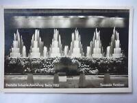 POSTKARTE DEUTSCHE INDUSTRIEAUSSTELLUNG BERLIN 1952 TANZENDE FONTÄNEN POSTKARTE