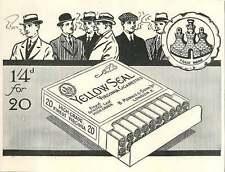 WW1 Yellow Seal Virginia Cigarettes B Morris London Ad