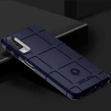 Para Samsung Galaxy A7 A750f 2018 escudo serie exterior azul funda
