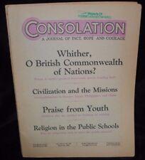 CONSOLATION Magazine March 31  1943  International Bible Jehovah Watchtower