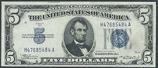 1934A $5 Silver Certificate