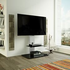 """Gloss Silver TV Stand Cantilever With LCD LED TV Wall Bracket for 32 - 60"""" inch"""