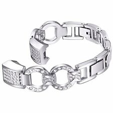 Metal Band Rhinestone Bling Replacement For Fitbit Alta HR Silver
