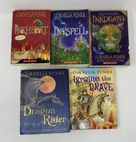 Lot Of 5 Books Cornelia Funke  Inkheart Inkspell Inkdeath Dragon Rider Igraine