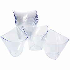 GRÄWE 10 Einweg-Dessertschälchen Dip-Schalen aus Kunststoff (100 ml)