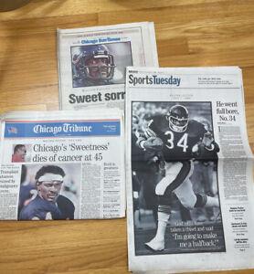 CHICAGO NEWSPAPER 1999 BEARS WALTER PAYTON DIES (Times & Tribune) Collectible