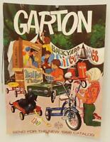GARTON TOY PEDAL CAR AD #9 Original 1959 Playthings Mag COLOR INSERT Scooter CAR