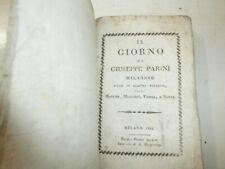 Libro antico Il Giorno Giuseppe Parini 1816