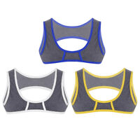 Mens Muscle Half Tank Top Chest Bodybuilding Gym Workout Sleeveless T-Shirt Vest