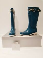 VIVIENNE WESTWOOD wellies gumboots ocean blue size 37 NEW in box rrp $595