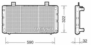 DENSO ENGINE COOLING RADIATOR FOR A SAAB 900 BERLINA 2.0 103KW