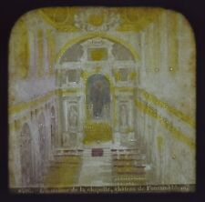 1860 Hold To Light Colour Tissue Stereoview Photo Chapelle De Fontainebleau
