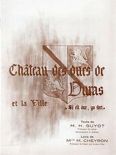 DURAS - Le château des ducs et la ville + H. GUYOT + M. CHEYRON + Lot-et-Garonne