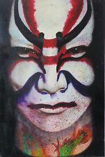 "Original Oil painting ""Kabuki"" by Nardu Debrah,Portrait,Realism,Size11'X17"",US"