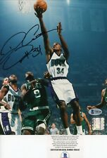 Ray Allen HOF Bucks Heat Celtics Signed Autographed 8x10 Glossy Photo Beckett