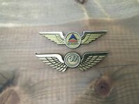 Vintage Northwest Delta Airlines Junior Member Pilot Wings Pins Two Plastic USA