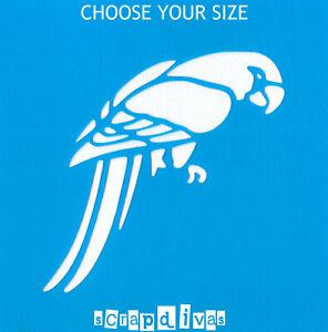 Scrapbooking - STENCILS TEMPLATES MASKS SHEET - Bird Parrot Design 1082