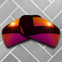 Polarized Magenta Red Mirrored Replacement Lenses for-Oakley Gascan Sunglasses