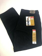 NWT Men's Wrangler Hero Five Star Relaxed Jeans 40x30 Comfort Black Denim New