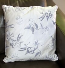 NWT Bedroom Cushion 45 x 45 CM  Cotton Floral with Edge binding White & Grey