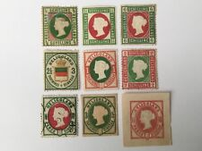 old stamps  HELIGOLAND   x  9 inc cut outs