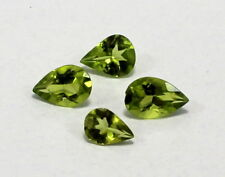 4 Piece Natural Green Colour Peridot Gemstone Pear Faceted Cut Mix Lot S1042