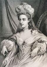 Marie Françoise Marchand Mademoiselle Dumesnil estampe gravure sur acier XIXe