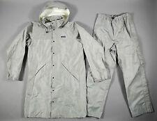 Vintage PATAGONIA Foul Weather Set Rain Trench Jacket & Pants Gray Men's L